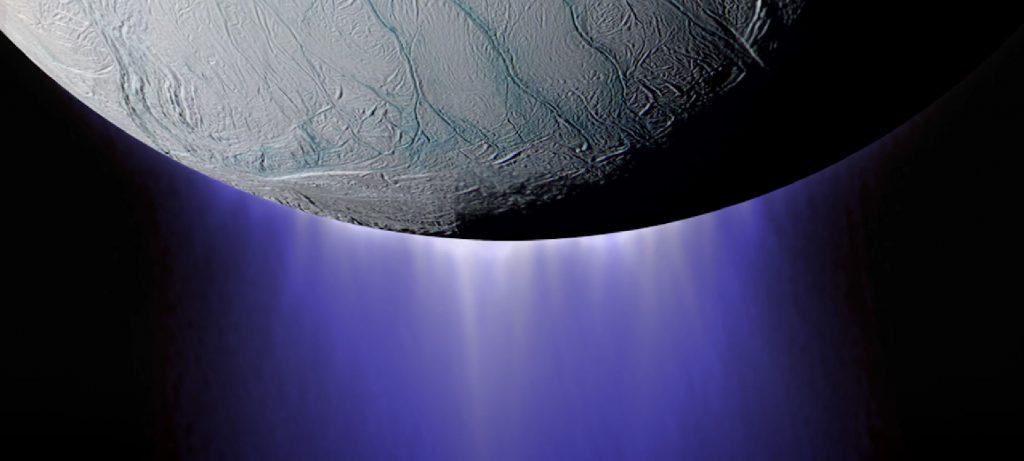 Richly covered menu in the Enceladus ocean