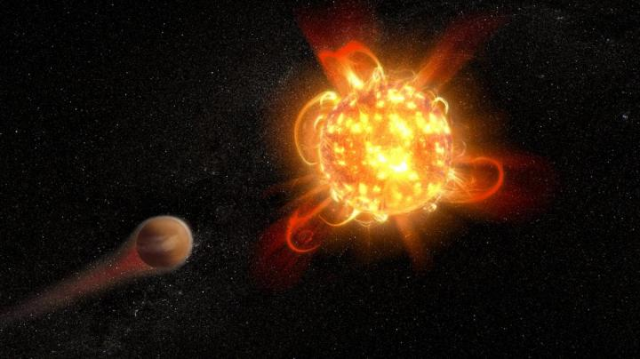 Superflare from red dwarf observed