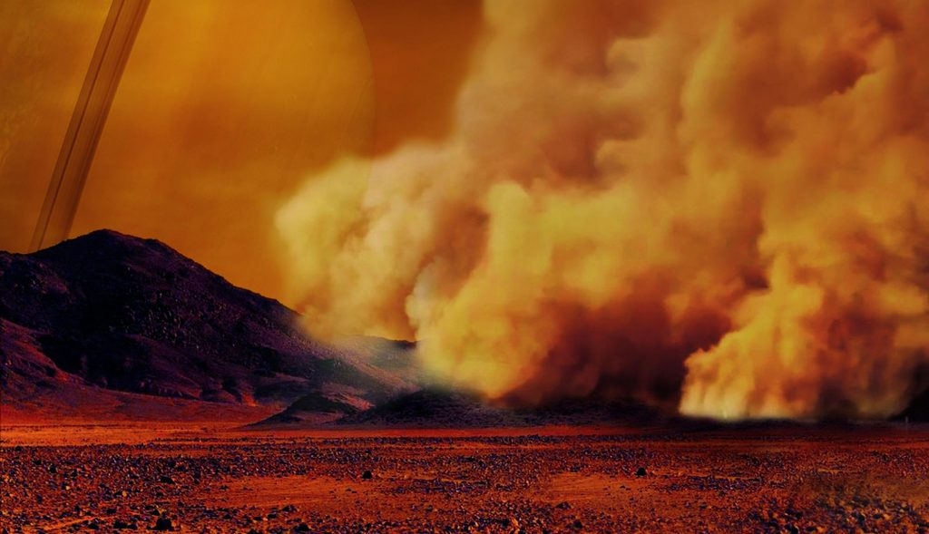 Dust storms discovered on Saturn's moon Titan