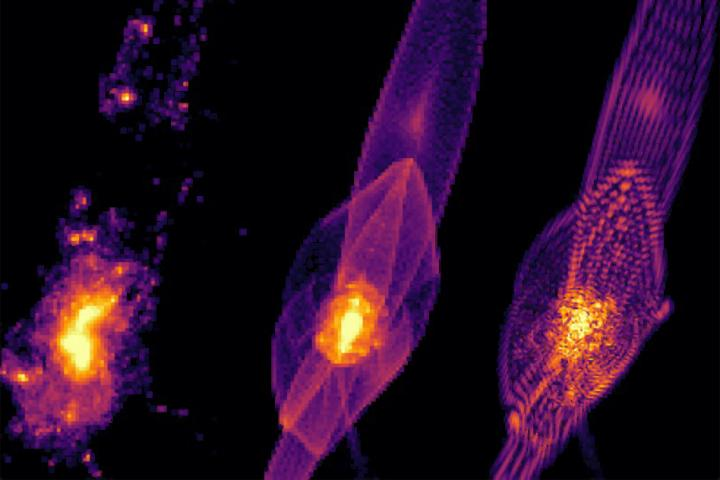How a universe made out of fuzzy dark matter might look