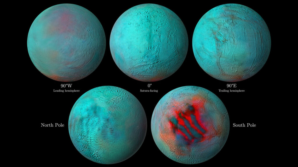 Fresh frozen items delivered to Enceladus's north pole too