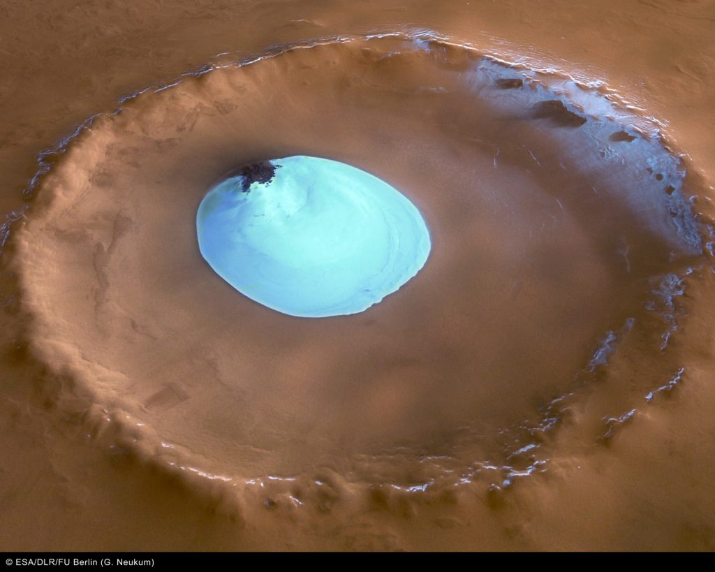 Where water will be easiest to find on Mars