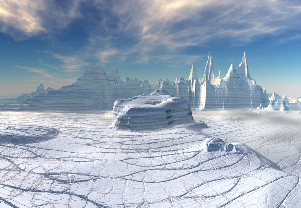 Water oceans in the crust of icy planets