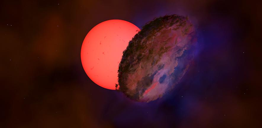 Mysterious shadow hides giant star